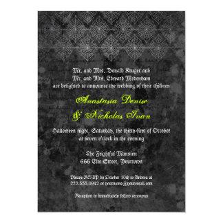 Invitación misteriosa del boda de Halloween