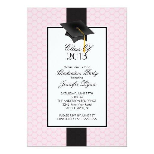 Invitación moderna 2013 de la fiesta de graduación
