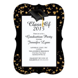 Invitación moderna 2015 de la fiesta de graduación invitación 12,7 x 17,8 cm