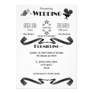 Invitación moderna adaptable del boda de la piel d