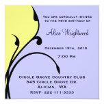 Invitación moderna caprichosa del cumpleaños