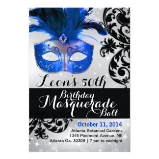 Invitación moderna de la bola de mascarada