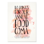 Invitación moderna de la coma de la comida de la