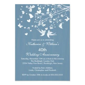Invitación moderna de la fiesta de aniversario de