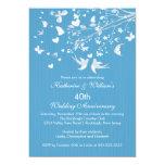Invitación moderna de la fiesta de aniversario de invitación 12,7 x 17,8 cm