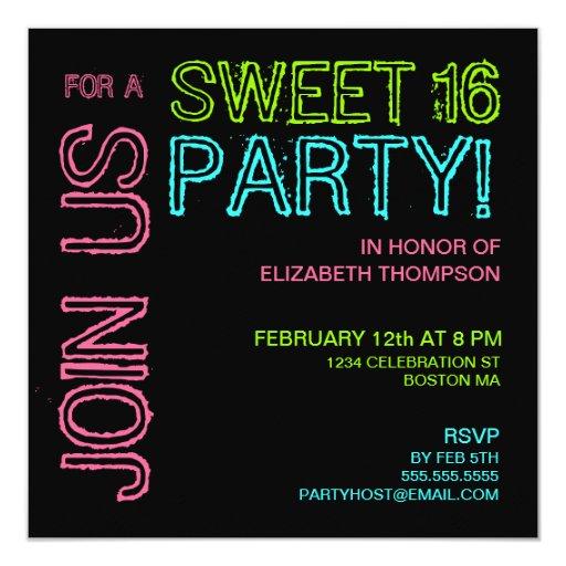 Invitación moderna de la fiesta de cumpleaños del
