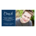Invitación moderna de la foto de la graduación - a tarjetas fotograficas personalizadas