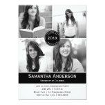 Invitación moderna de la graduación de 4 fotos -