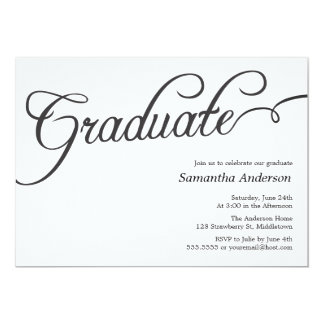 Invitación moderna de la graduación de la
