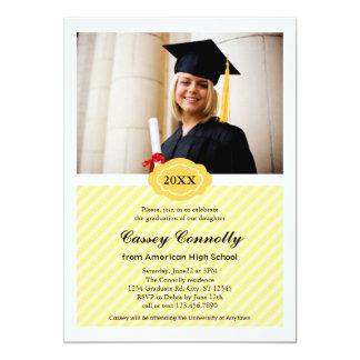 Invitación moderna de la graduación de la foto de