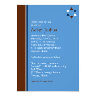 Invitación moderna de Mitzvah de la barra de la Invitación 12,7 X 17,8 Cm