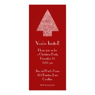 Invitación moderna del árbol de navidad