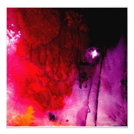 Invitación moderna del arte abstracto
