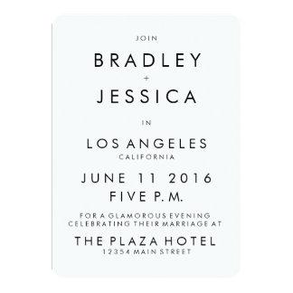 Invitación moderna del boda 5x7 de Futura