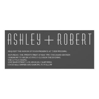 Invitación moderna del boda de Huxley