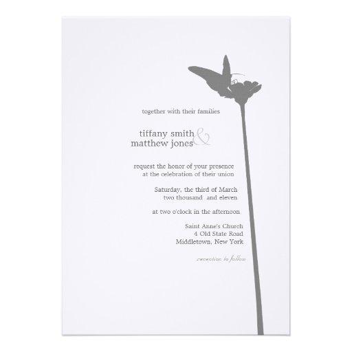 Invitación moderna del boda de la mariposa