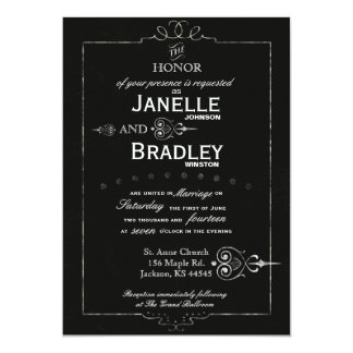 Invitación moderna del boda de la tipografía de la