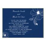 Invitación moderna del boda de los azules marinos