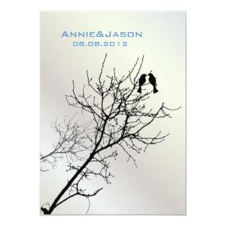 Invitación moderna del boda del árbol de los invitación 12,7 x 17,8 cm