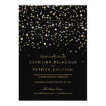Invitación moderna del boda del confeti de la