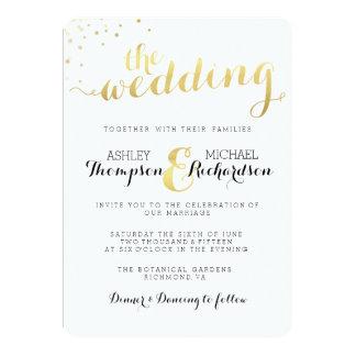 Invitación moderna del boda del encanto de la hoja