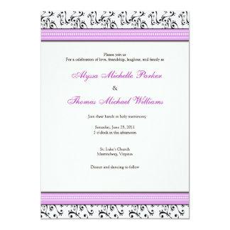 Invitación moderna del boda del remolino (lila)