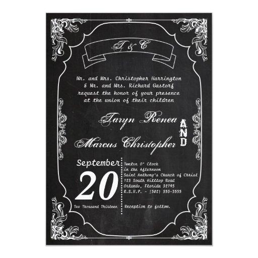invitación moderna del boda del vintage de la