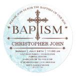 Invitación moderna del círculo del bautismo del
