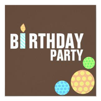 Invitación moderna del cumpleaños de la vela de