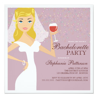 Invitación moderna del fiesta de Bachelorette del
