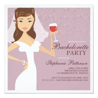 Invitación moderna del fiesta de Bachelorette del Invitación 13,3 Cm X 13,3cm