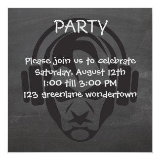 Invitación moderna del fiesta de DJ EDM de la
