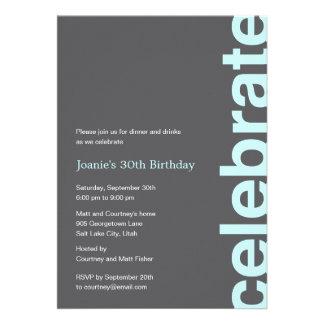 Invitación moderna del fiesta de la celebración -