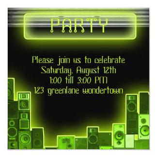 Invitación moderna del fiesta de la música