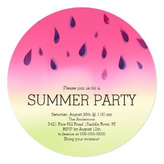 Invitación moderna del fiesta del Bbq del verano