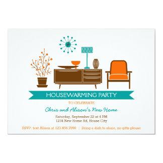 Invitación moderna del fiesta del estreno de una invitación 12,7 x 17,8 cm