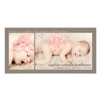 Invitación moderna del nacimiento de la niña de do tarjeta personal