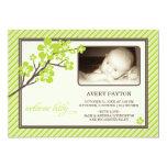 Invitación moderna del nacimiento del bebé de las invitación 12,7 x 17,8 cm