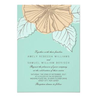 Invitación moderna elegante del boda de la menta