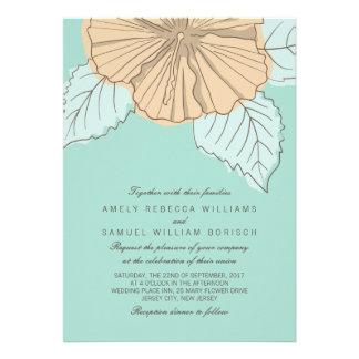 Invitación moderna elegante del boda de la menta d