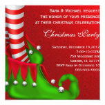 Invitación moderna linda de la fiesta de Navidad