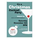 Invitación moderna retra de la fiesta de Navidad