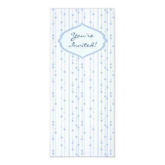 Invitación moldeada del fiesta de las cortinas invitación 10,1 x 23,5 cm