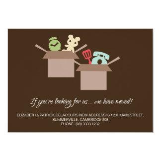 Invitación móvil de Brown de las cajas de cartón Invitación 12,7 X 17,8 Cm
