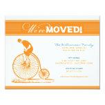 Invitación móvil de la bicicleta antigua (naranja)