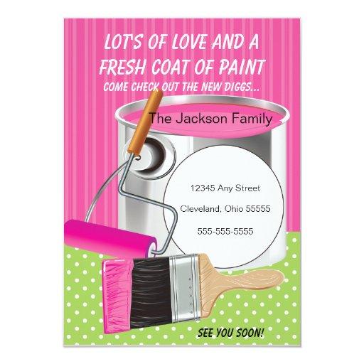 Invitación móvil de la capa de pintura fresca invitación 11,4 x 15,8 cm