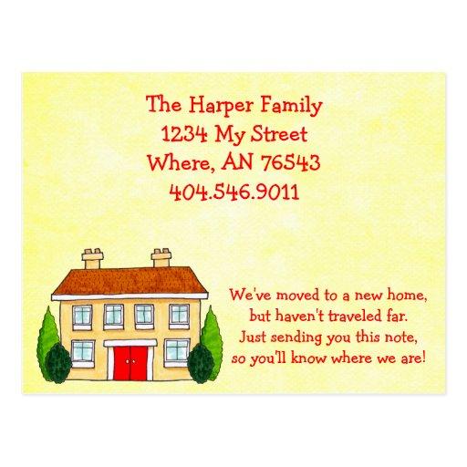 Invitación móvil de la dirección del hogar meridio tarjeta postal