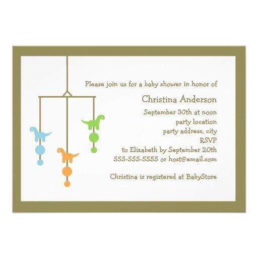 Invitación móvil de la fiesta de bienvenida al beb