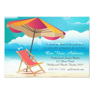 Invitación móvil de la playa de Sandy Invitación 12,7 X 17,8 Cm