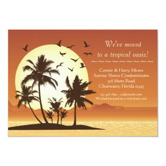 Invitación móvil de la puesta del sol del oasis